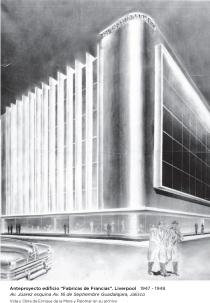 Anteproyecto_Edificio de Fabricas de Francia_Guadalajara Jal_1946 1
