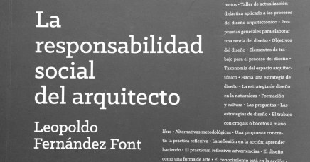 """La responsabilidad social del arquitecto"", de Leopoldo FernándezFont."