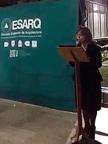 Palabras de la Arq. Ángela Siqueiros con ocasión del cambio de directiva de laESARQ.